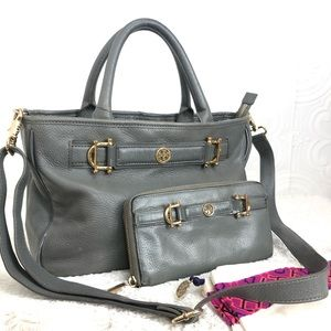🌸OFFERS?🌸 Tory Burch Leather Gray Set